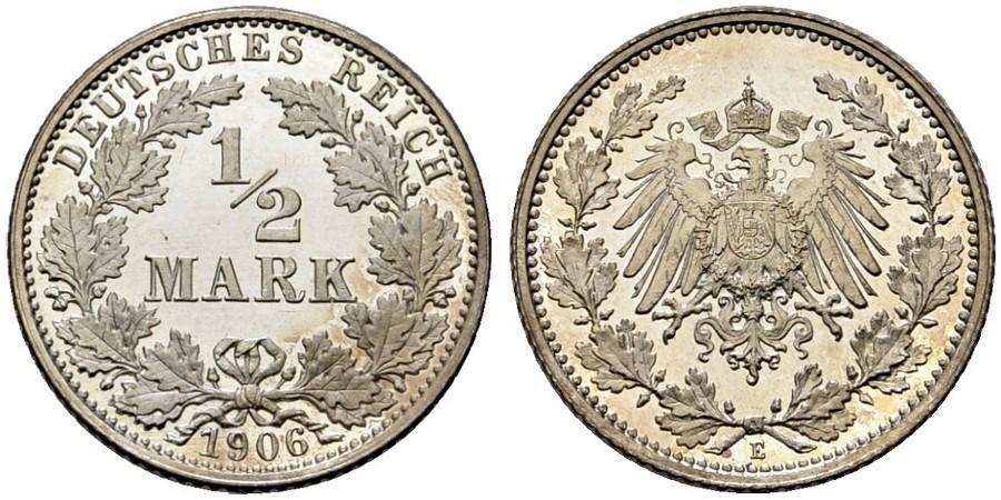 DE 1/2 Mark 1906 E