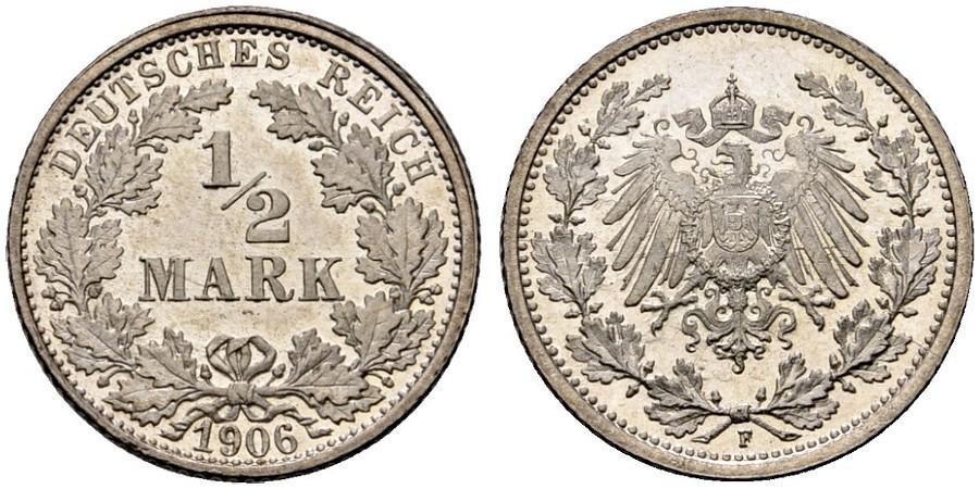 DE 1/2 Mark 1906 F
