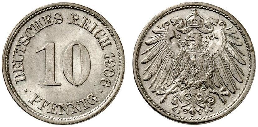 DE 10 Pfennig 1906 F