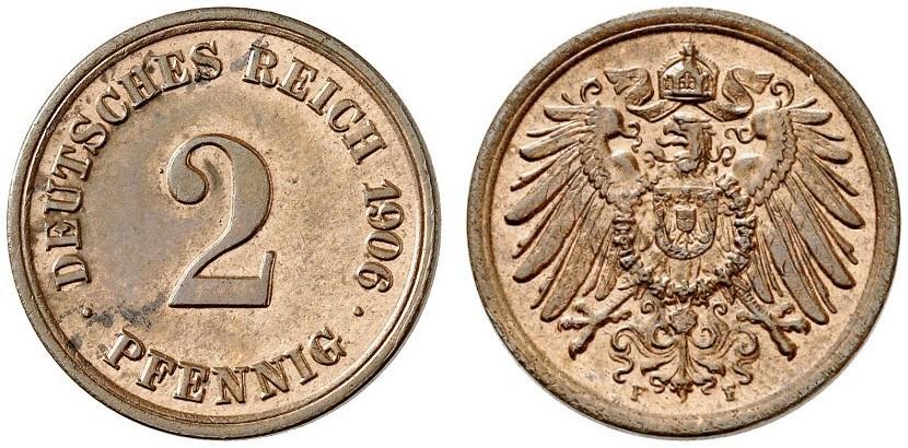DE 2 Pfennig 1906 F