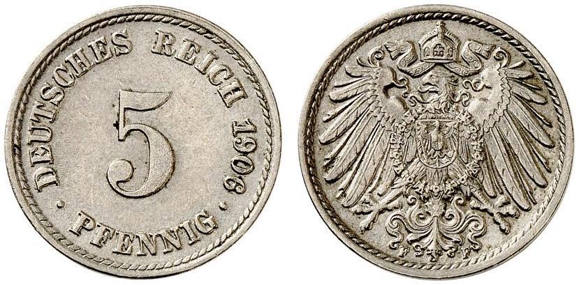 DE 5 Pfennig 1906 F