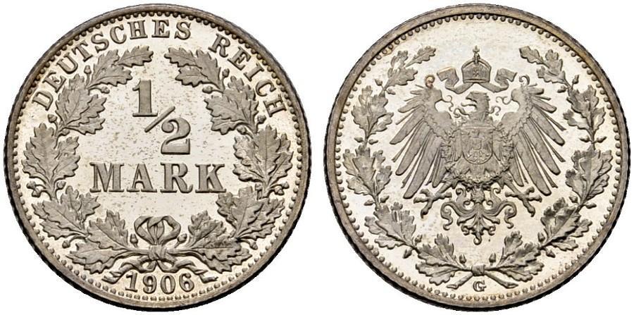 DE 1/2 Mark 1906 G