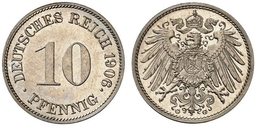 DE 10 Pfennig 1906 G