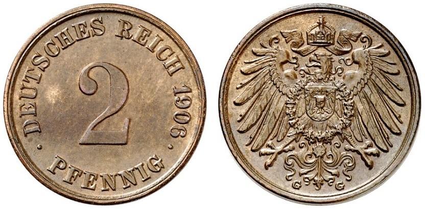 DE 2 Pfennig 1906 G