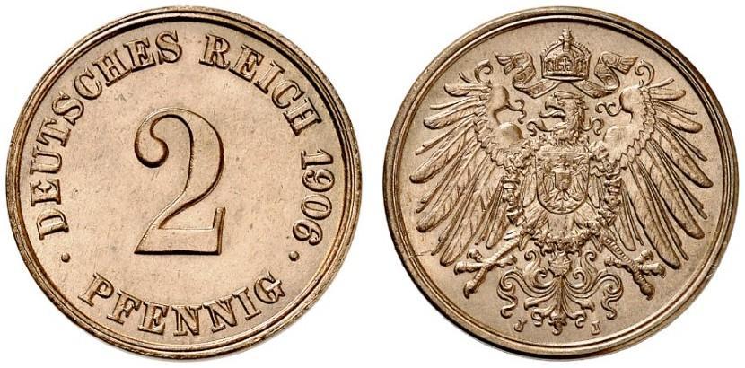 DE 2 Pfennig 1906 J
