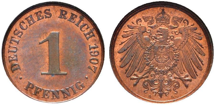 DE 1 Pfennig 1907 A