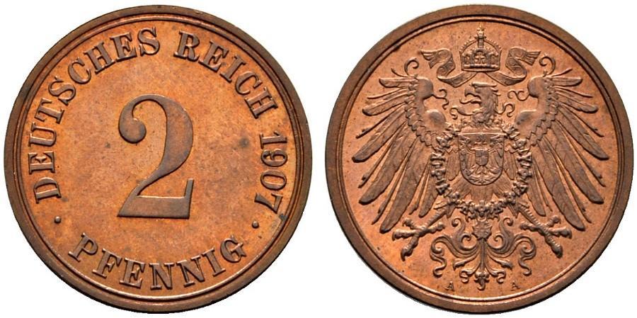 DE 2 Pfennig 1907 A