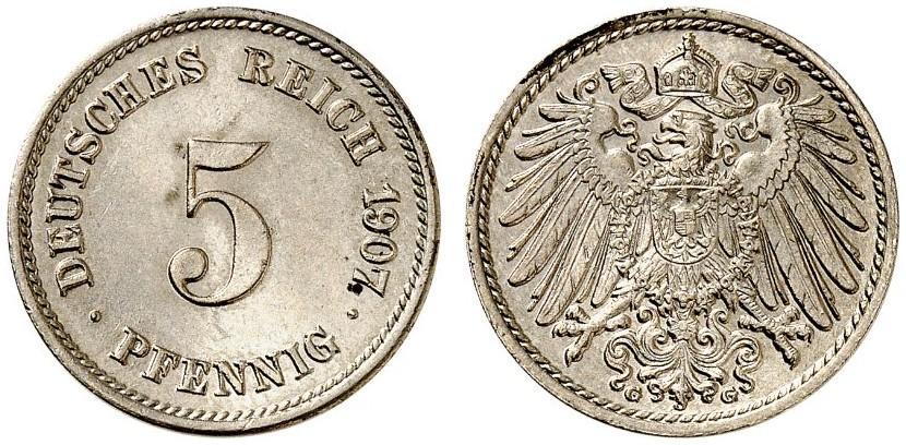 DE 5 Pfennig 1907 G