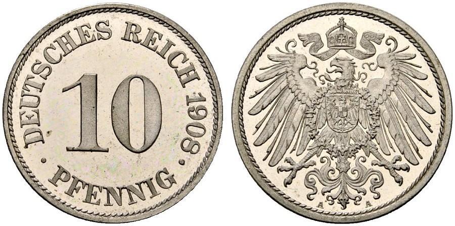 DE 10 Pfennig 1908 A