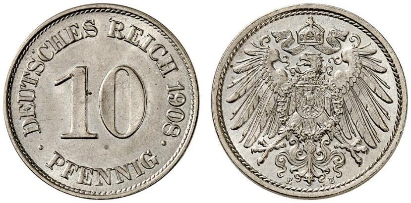 DE 10 Pfennig 1908 E
