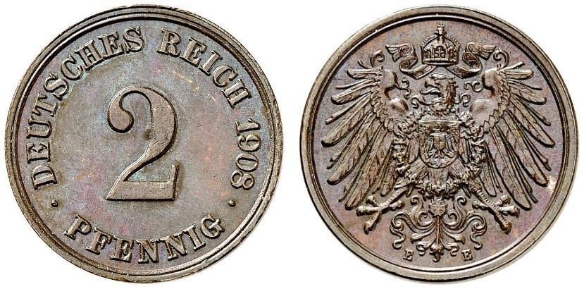 DE 2 Pfennig 1908 E