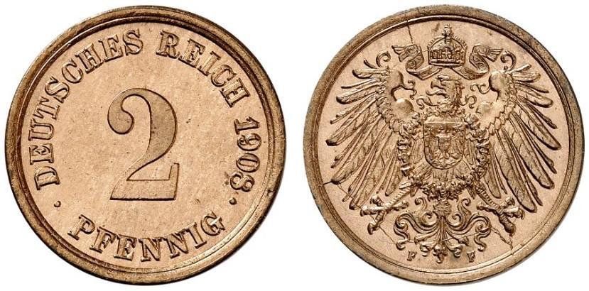 DE 2 Pfennig 1908 F