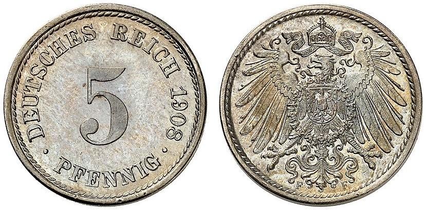 DE 5 Pfennig 1908 F