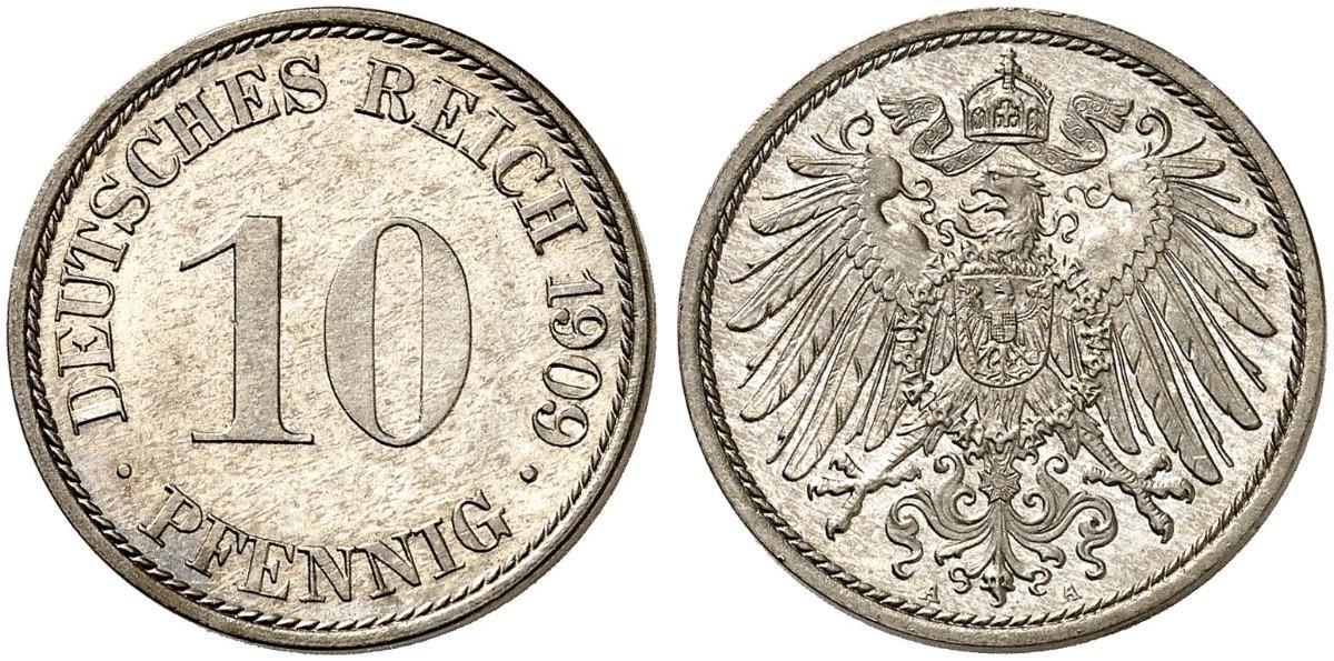 DE 10 Pfennig 1909 A