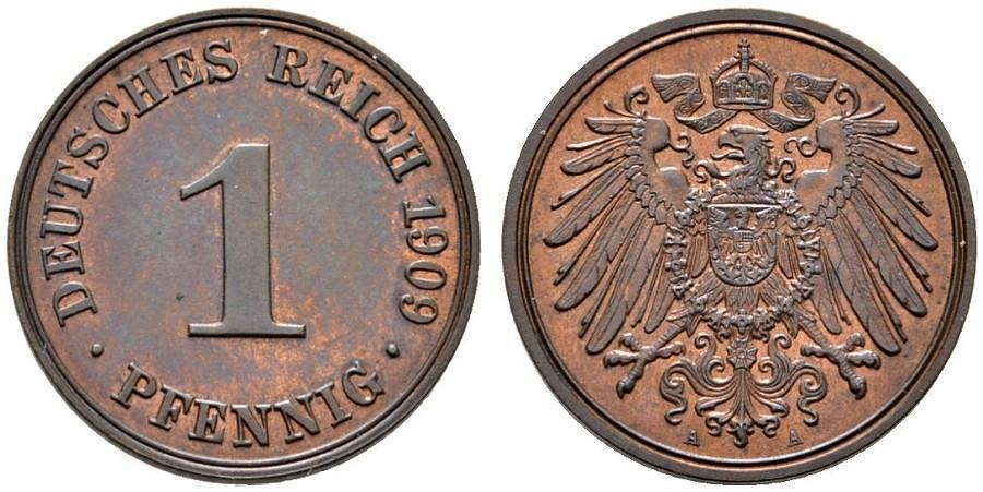 DE 1 Pfennig 1909 A