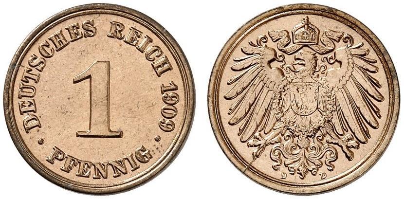 DE 1 Pfennig 1909 D