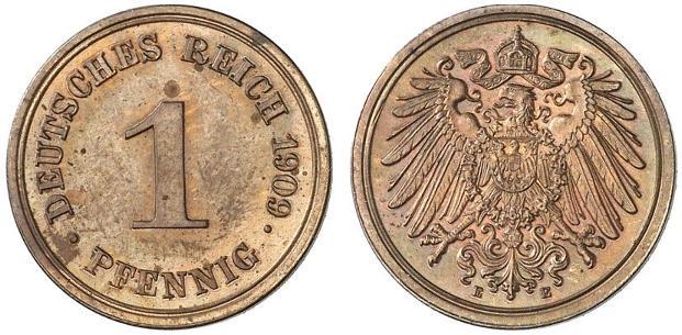 DE 1 Pfennig 1909 E