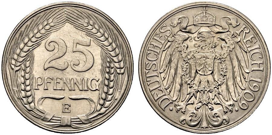 DE 25 Pfennig 1909 E