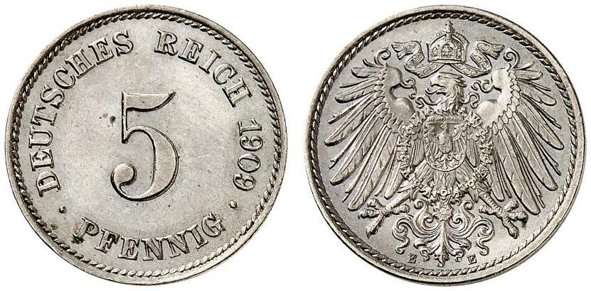 DE 5 Pfennig 1909 E