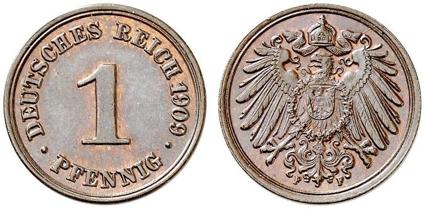 DE 1 Pfennig 1909 F