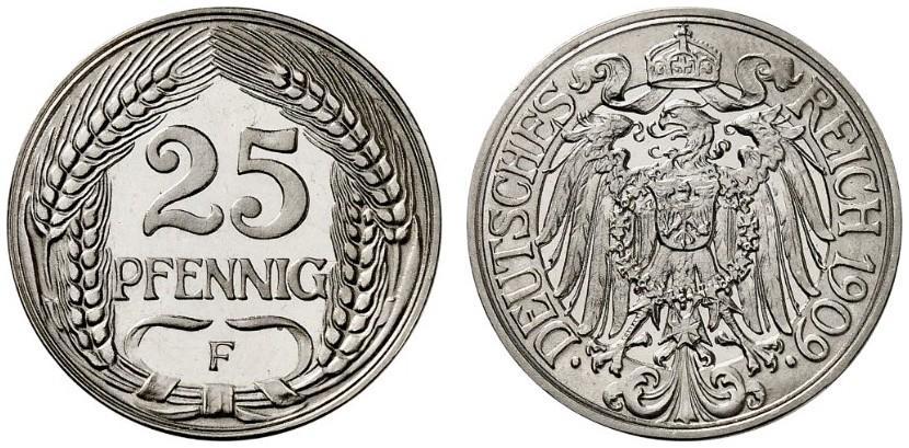 DE 25 Pfennig 1909 F