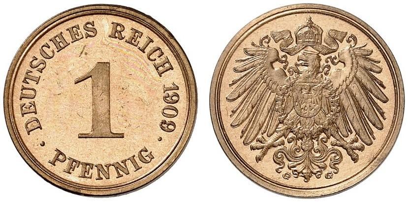 DE 1 Pfennig 1909 G