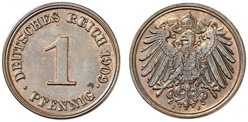 DE 1 Pfennig 1909 J