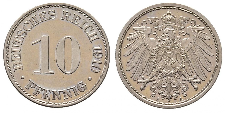 DE 10 Pfennig 1910 A