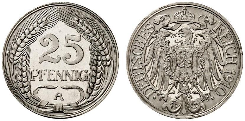 DE 25 Pfennig 1910 A
