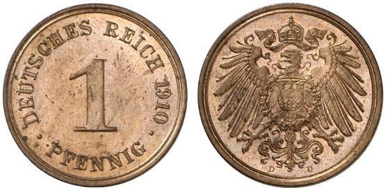 DE 1 Pfennig 1910 D