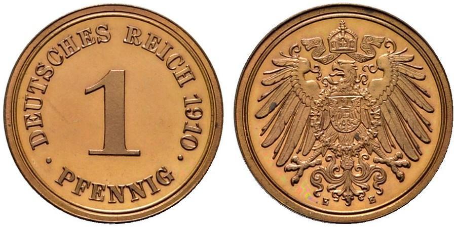 DE 1 Pfennig 1910 E