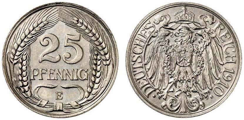 DE 25 Pfennig 1910 E