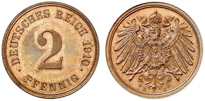 DE 2 Pfennig 1910 E