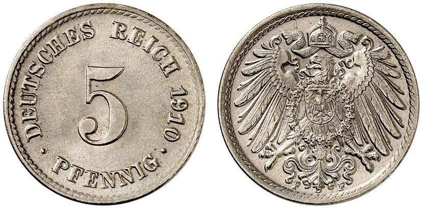 DE 5 Pfennig 1910 F