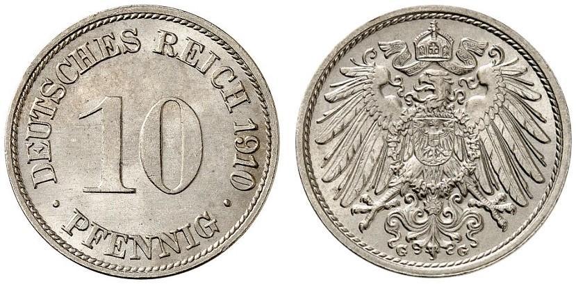 DE 10 Pfennig 1910 G
