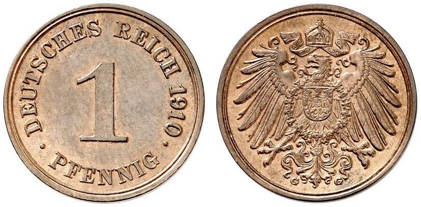DE 1 Pfennig 1910 G