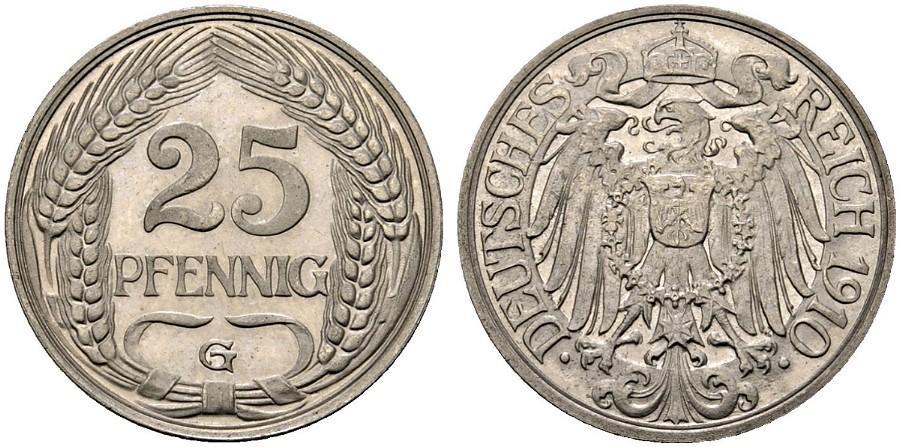 DE 25 Pfennig 1910 G