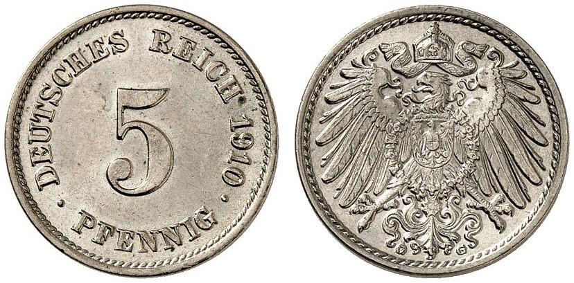 DE 5 Pfennig 1910 G
