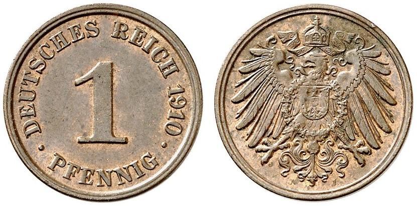 DE 1 Pfennig 1910 J