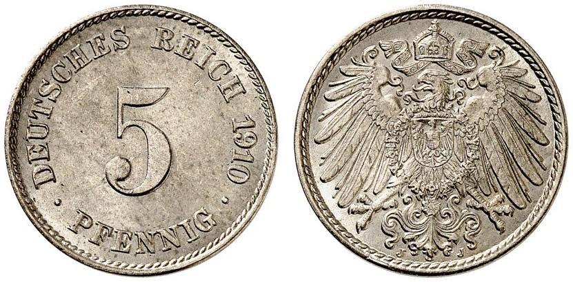 DE 5 Pfennig 1910 J