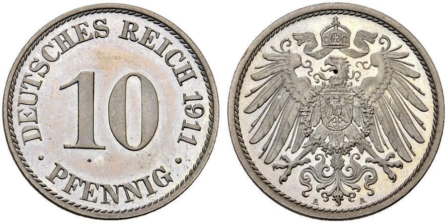 DE 10 Pfennig 1911 A
