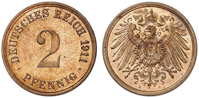 DE 2 Pfennig 1911 A