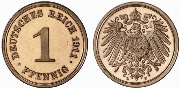 DE 1 Pfennig 1911 E