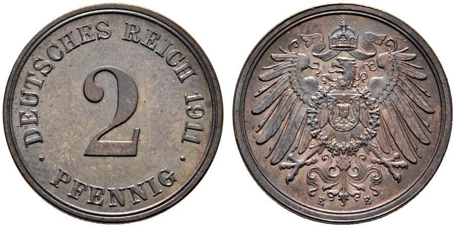 DE 2 Pfennig 1911 E