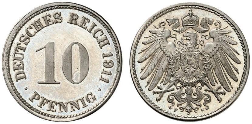 DE 10 Pfennig 1911 F
