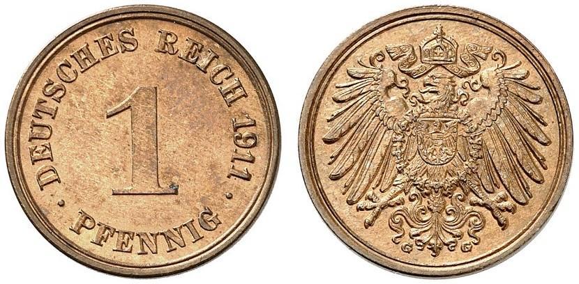 DE 1 Pfennig 1911 G