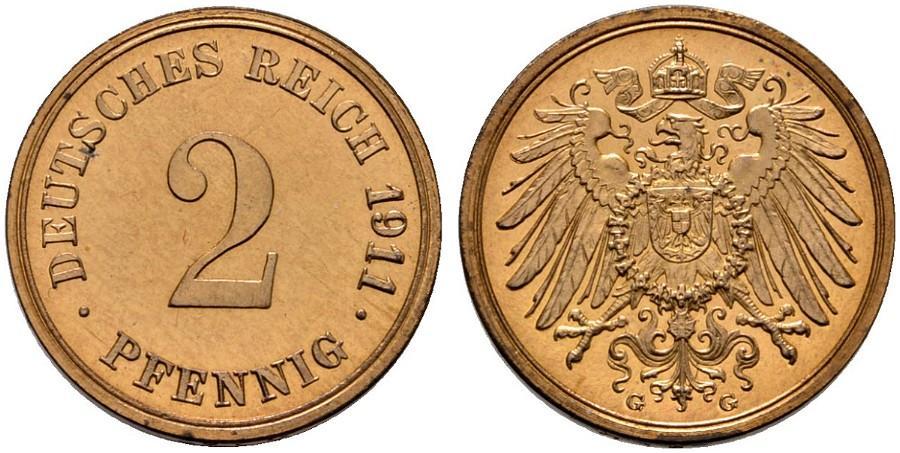 DE 2 Pfennig 1911 G