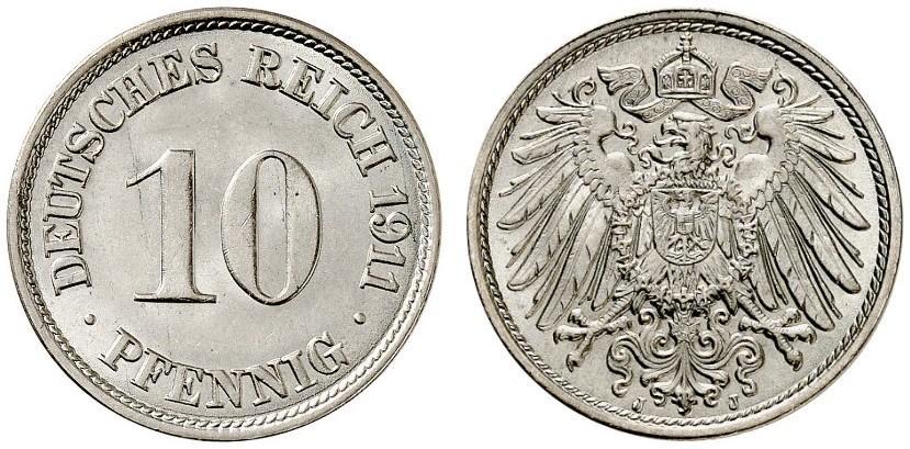 DE 10 Pfennig 1911 J