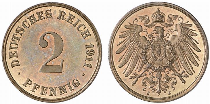 DE 2 Pfennig 1911 J