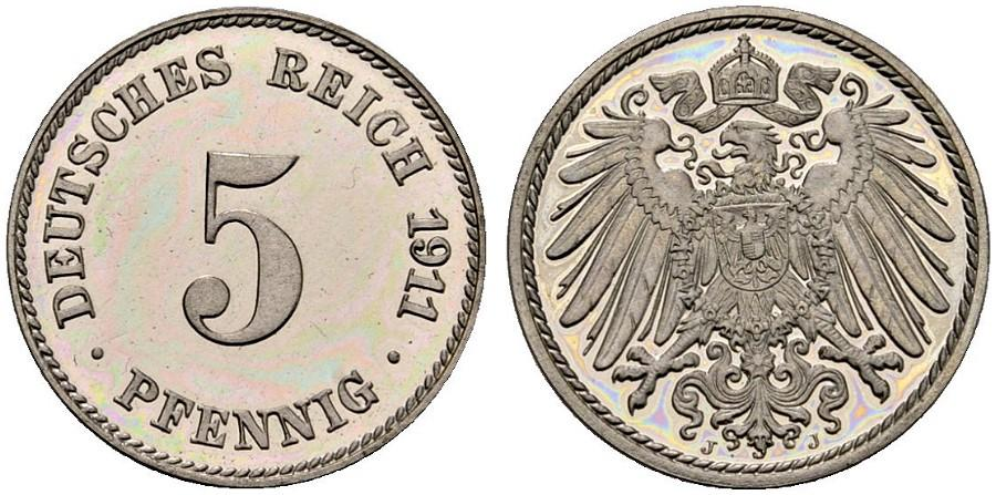 DE 5 Pfennig 1911 J